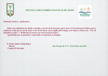 Les invitamos este jueves a reflexionar sobre convivencia escolar en la actividad Escuela para Padres
