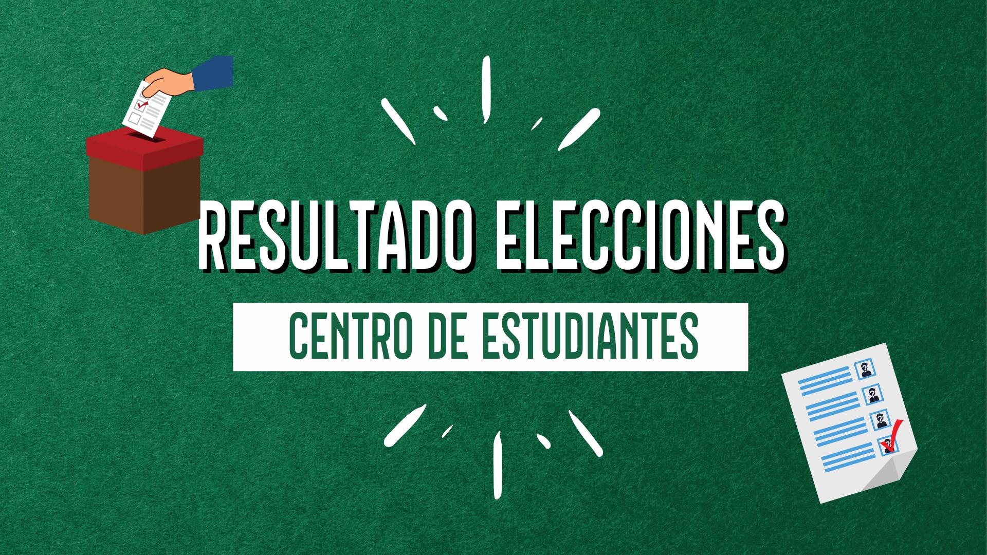 RESULTADO ELECCIONES CENTRO DE ESTUDIANTES