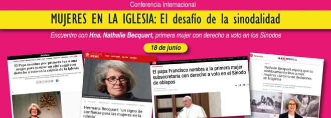 """Invitación a la conferencia """"Mujeres en la Iglesia: el desafío de la sinodalidad'"""