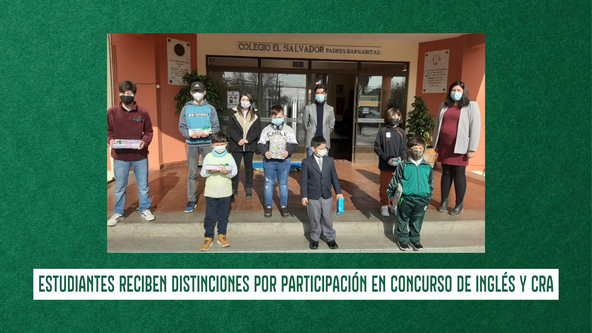 ESTUDIANTES RECIBEN DISTINCIONES POR PARTICIPACIÓN EN CONCURSO DE INGLÉS Y CRA