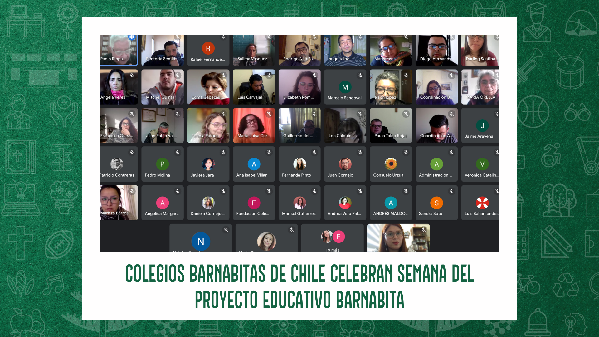 COLEGIOS BARNABITAS DE CHILE CELEBRAN SEMANA DEL PROYECTO EDUCATIVO BARNABITA